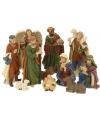 Kerststalletje figuren 11 stuks