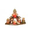 Kerststalletje met keramieken figuren 26 cm