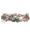 Kerststukje dennen met witte theelichthouders