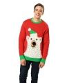 Kersttrui met ijsbeer voor volwassenen
