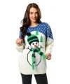 Kersttrui met sneeuwpop voor volwassenen