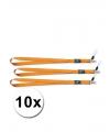 Keycords oranje 10 stuks