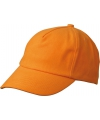 Kinder baseball caps oranje