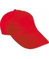 Kinder baseball caps rood
