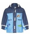 Kinder blauwe regenjas dinosaurus design