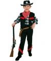 Kinder cowboy kostuum zwart