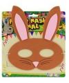 Kinder foam masker konijn