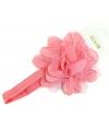 Kinder haarband met bloem koraal