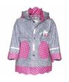 Kinder regenjas navy roze design
