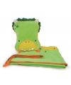Kinder reisset deken en kussentje groene
