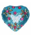 Kinder tanden doosje vlinder blauw roze goud 6 cm