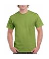 Kiwigroen katoenen shirt voor volwassenen