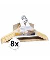 Kledinghanger hout 8 stuks 44 cm