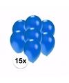 Kleine metallic blauwe ballonnen 15 stuks