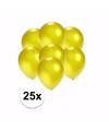 Kleine metallic gele ballonnen 25 stuks
