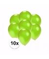 Kleine metallic groene ballonnen 10 stuks