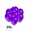 Kleine metallic paarse ballonnen 25 stuks