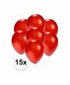 Kleine metallic rode ballonnen 15 stuks