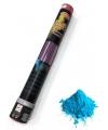 Kleurenpoeder shooter blauw 40 cm