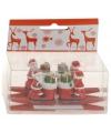 Knijper met kerstman op laars 4 stuks