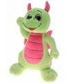 Knuffel draak groen roze 45 cm