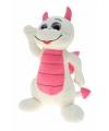Knuffel draak wit roze 45 cm
