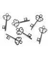 Knutsel decoratie sleuteltjes 24 stuks