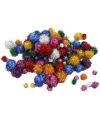 Knutsel glitter pompons assorti 400 stuks