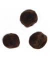 Knutsel pompons 15 mm bruin