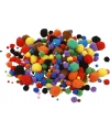 Knutsel pompons 150 stuks 15 40 mm kleuren