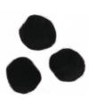 Knutsel pompons 25 mm zwart