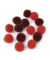 Knutsel pompons 60 stuks 15 mm rood
