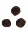 Knutsel pompons 70 stuks 7 mm bruin