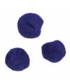 Knutsel pompons 70 stuks 7 mm donkerblauw