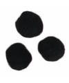 Knutsel pompons 70 stuks 7 mm zwart