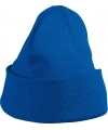 Kobalt blauwe gebreide muts voor kinderen