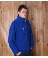 Kobalt fleece trui voor volwassenen