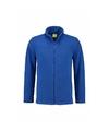 Kobaltblauw fleece vest met rits voor volwassenen