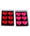 Koelkast magnetron magneetjes hartvormig roze