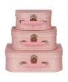 Koffertje licht roze 20 cm