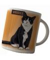Koffie mok zwart witte kat