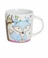 Koffie thee mok beker 9 cm blauw vos