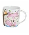 Koffie thee mok beker 9 cm roze vos