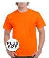 Koningsdag grote maten fel oranje shirt voor volwassenen