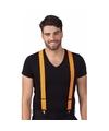 Koningsdag oranje bretels voor volwassenen