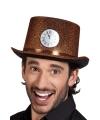 Koperen hoge hoed met klokje voor volwassenen