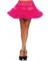 Korte fuchsia petticoat voor dames
