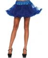Korte kobalt petticoat voor dames