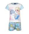 Korte pyjama frozen blauw wit
