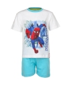 Korte pyjama spiderman wit